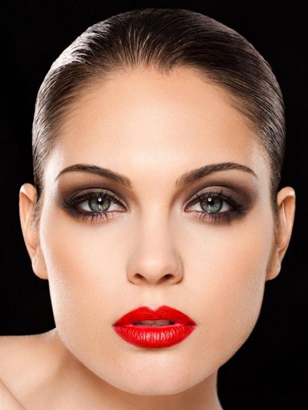 smokey-eyes-rossetto-rosso-make-up-trucco-elegante