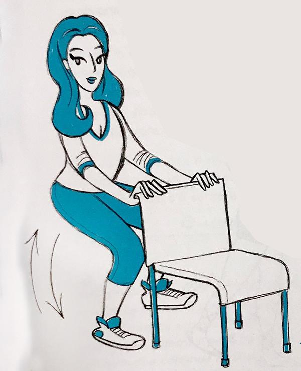 smart gym con la sedia