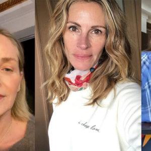 Le star di Hollywood sono in quarantena: eccole senza trucco