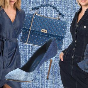 Non solo jeans: ecco il denim in abiti e accessori per le signore