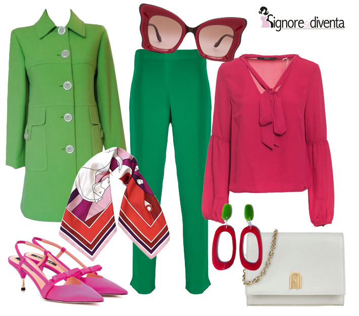 outfit anni 60 a tutto colore