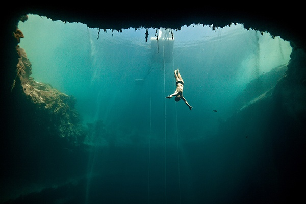 Jacques Mayol - Blue Hole Bahamas