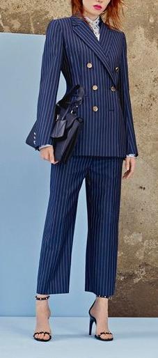 tailleur gessato Versace